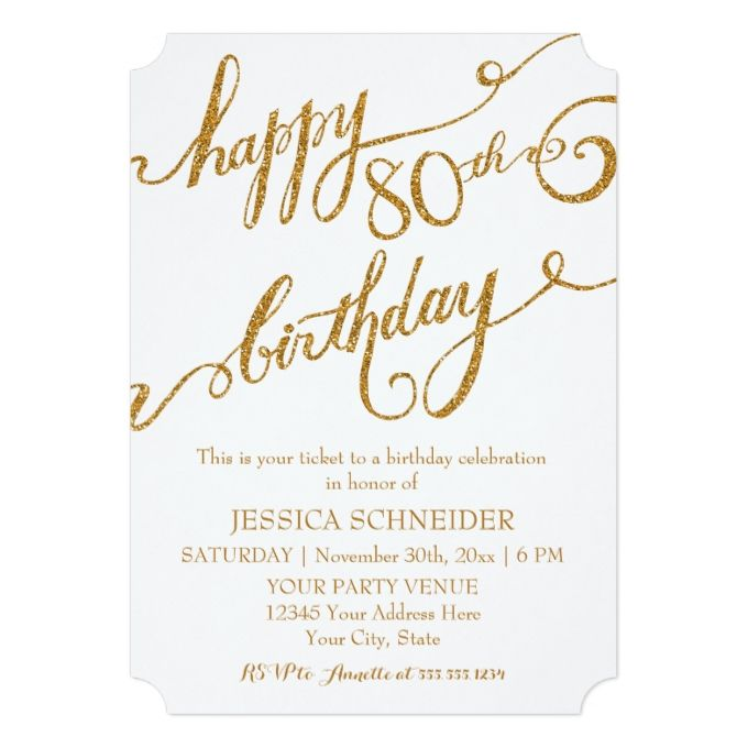 17 Best images about 80th Birthday Invitations – Birthday Celebration Invitation