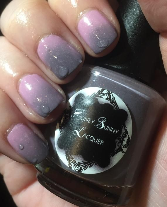 Her Ghost In The Fog Thermal Polish Indie Nail Polish Pink Thermal Nail Polish Shimmer