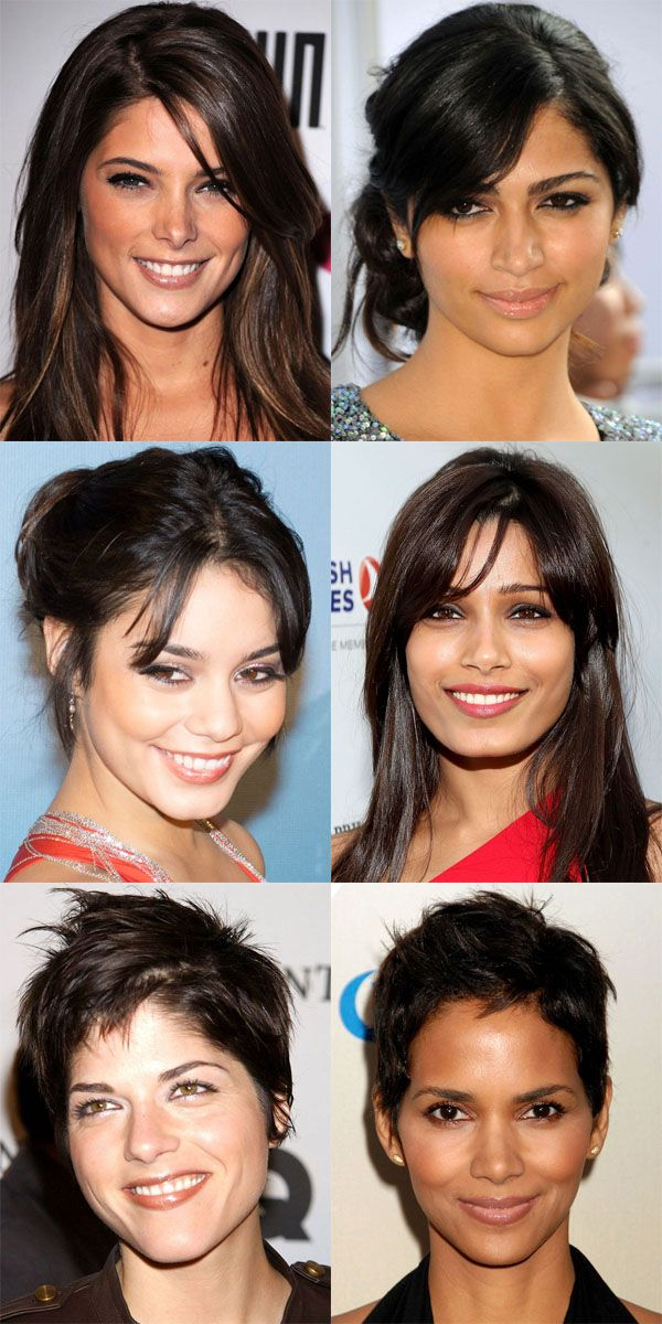 The best bangs for diamond face shapes: http://beautyeditor.ca/2014/07/04/best-bangs-for-diamond-face-shape/