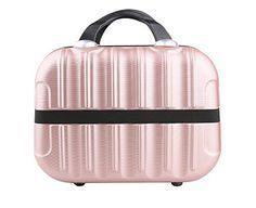 Best Makeup Bag | Genda 2Archer Hard Shell Cosmetic Carrying Case Small Hardshell Travel Hand Luggage Rose Gold >>> Learn more by visiting the image link. Note:It is Affiliate Link to Amazon.
