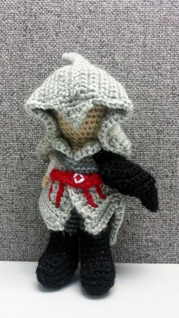 Amigurumi Crochet Size : Big Size 6 Inches Assassins Creed Ezio Amigurumi Crochet ...