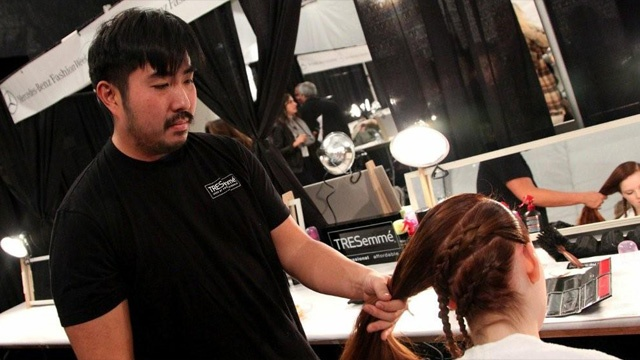 Behind the scenes with #TRESemme at Designer #CharlotteRonson Fall 2011 Show - Mercedes Benz Fashion Week #hair #models #runway #NewYorkFashionWeek #beauty #hairstyling