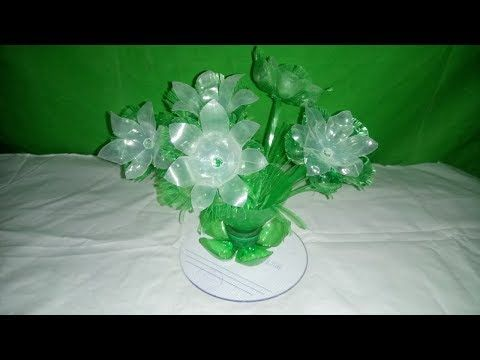 Easy plastic bottle flower/How to make Wonderful flower from plastic bottle vase recycle vase - YouTube