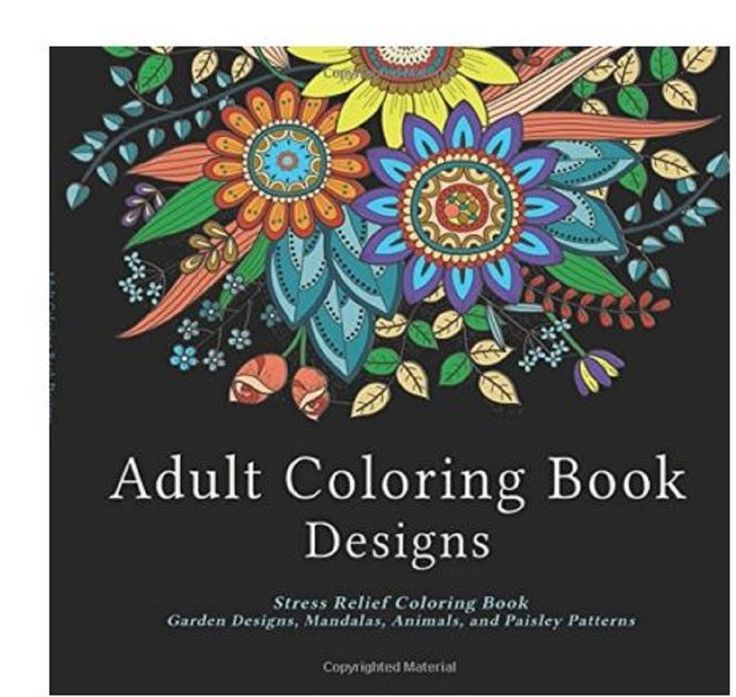 Adult Coloring Book Mandala Patterns Animals Paisley Garden Designs Stress Relax Michaels