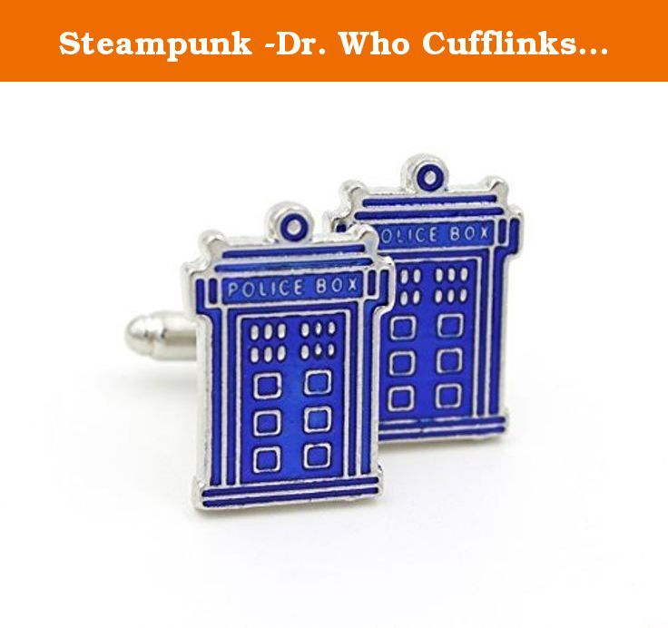 Steampunk -Dr. Who Cufflinks Cuff Links - Tardis Charm - Whovian Fan - Blue Phone Booth Police Call Box - Geekery Jewelry GlazedBlackCherry. PERFECT GIFT FOR THE MAN IN YOU LIFE! NO MORE GUESSING SIZES:) You can't go wrong with these stylish cufflinks. Makes the perfect gift for you or a loved one. Be sure to take a look at my shop for all your STEAMPUNK and NEO VICTORIAN accessories, new items listed all the time.