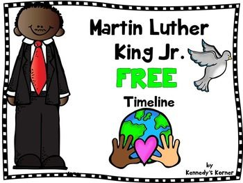 FREEBIE!   This freebie has your students cutting the events of Dr. King's life and pasting them on a timeline.  Then your students will answer questions about the timeline on a worksheet to check their comprehension.    UPDATED to include 2 versions!