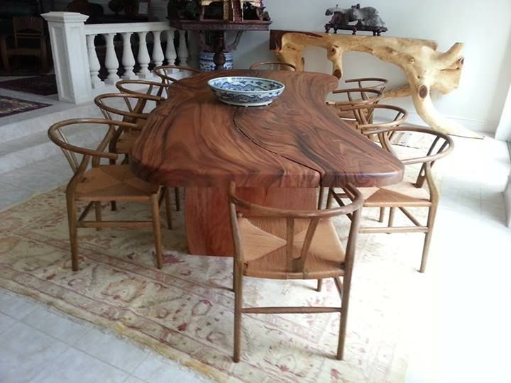 17 Best Images About Live Edge Slab Wood Dining Tables