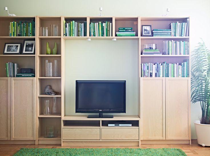 combinaci n de almacenaje para tv billy benno tv de chapa de abedul home pinterest tvs. Black Bedroom Furniture Sets. Home Design Ideas