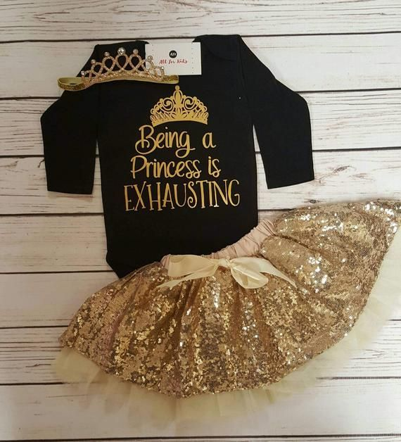 Baby Girl Clothes, Being A princess Is Exhausting Bodysuit, Infant – Baby