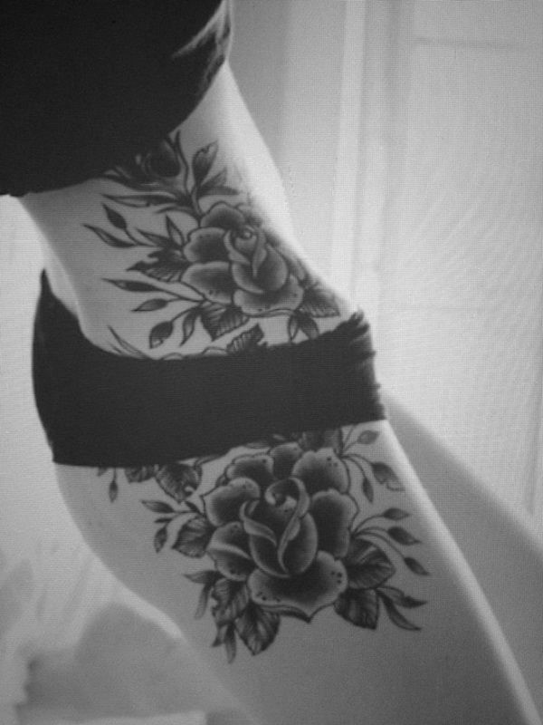 Image result for beautiful thigh tattoos for females