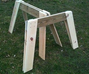 Simple Easy Folding Sawhorses