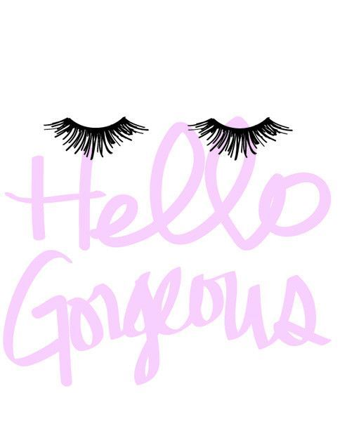 This Hello Gorgeous Eyelashes print is a perfect addition to any fashionistas…