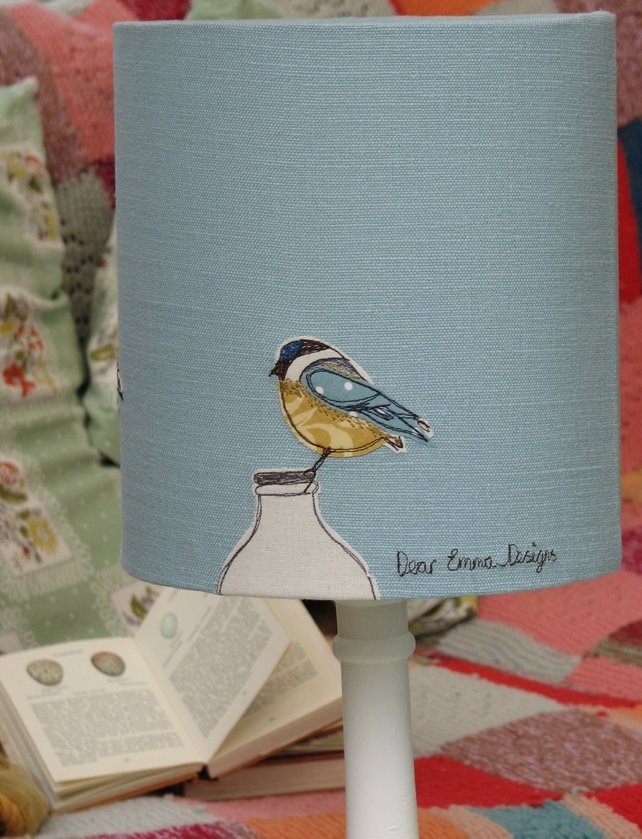 """Breakfast"" Blue Tit Lampshade Limited Edition"