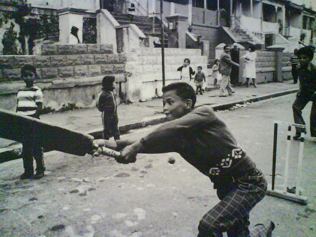 Cricket in District Six, Cape Town, South Africa, 1968