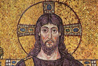 A tile picture of Jesus