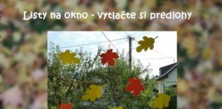 Listy na okno – vytlačte si  predlohy