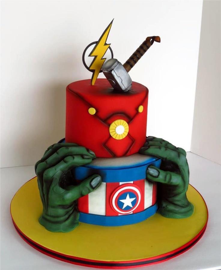 Avengers, Avenger cake and Iron man on Pinterest