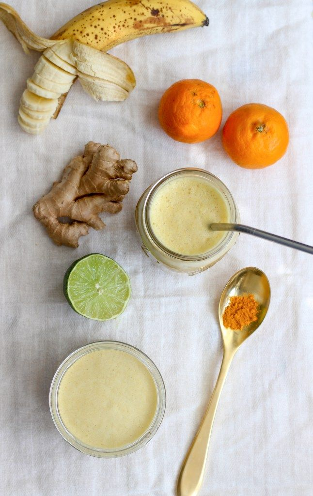 banana orange smoothie with ginger & turmeric | apolloandluna.com
