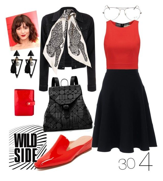 """""""4-  《30》 Falda Basica"""" by modo-om on Polyvore featuring Lands' End, Alice + Olivia, Rachel Comey, Ray-Ban, Marc Jacobs, Bao Bao by Issey Miyake and Louis Vuitton"""