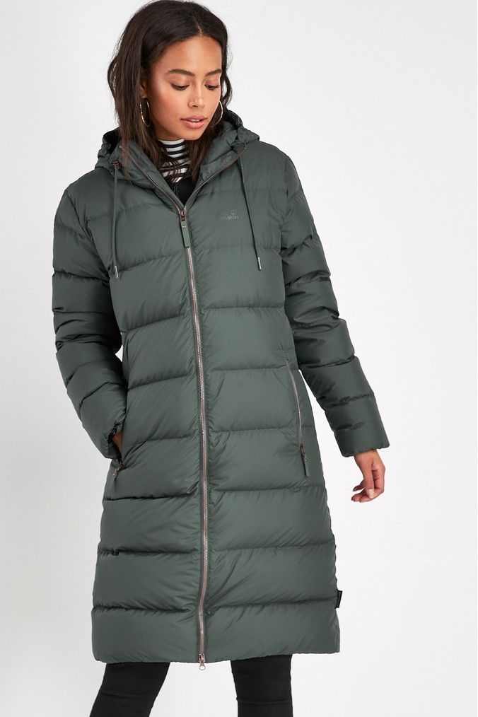 Womens Jack Wolfskin Crystal Palace Padded Coat Green
