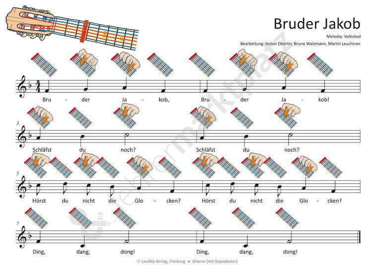 Bruder Jakob - MP3-Dateien & Noten für Klavier, Melodica
