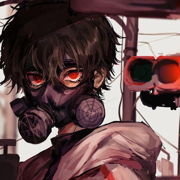Anime Gas Mask Red Eye 4k 3840x2160 33 Wallpaper For Desktop Laptop Imac Macbook Pc Tablet And Smartphone Ipho Anime Gas Mask Gas Mask Art Gas Mask