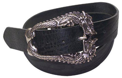 21bab9fd9d8d74 Fronhofer Gürtel 100% NATUR Leder Gürtel Vintage 12233 Drachenschließe  Schnalle Drachen auch Gürtel Überlängen Größe
