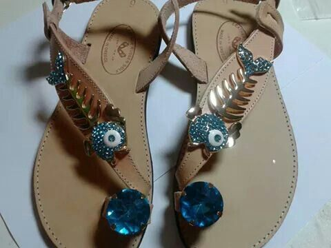 Leather decorated sandal