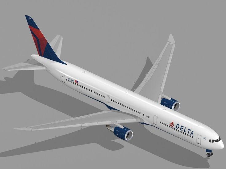 Dxf Boeing 767 400 Er Airliner - 3D Model