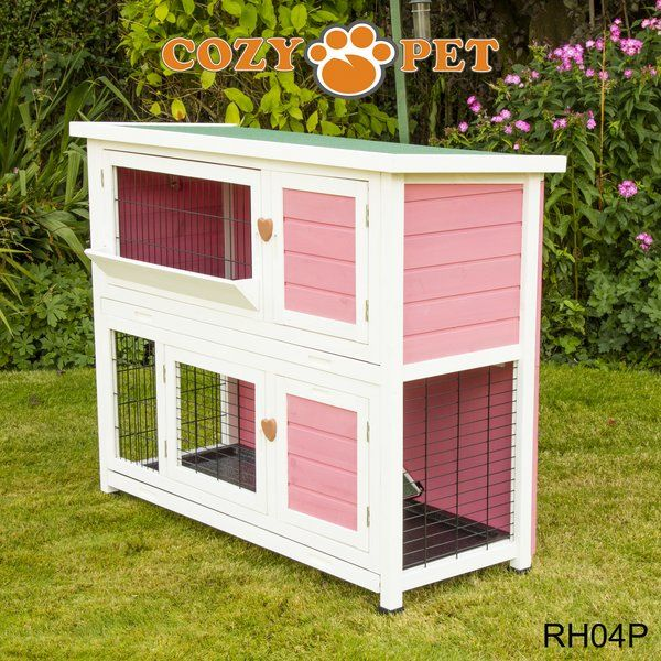 Rabbit Hutch 4ft by Cozy Pet - Pink