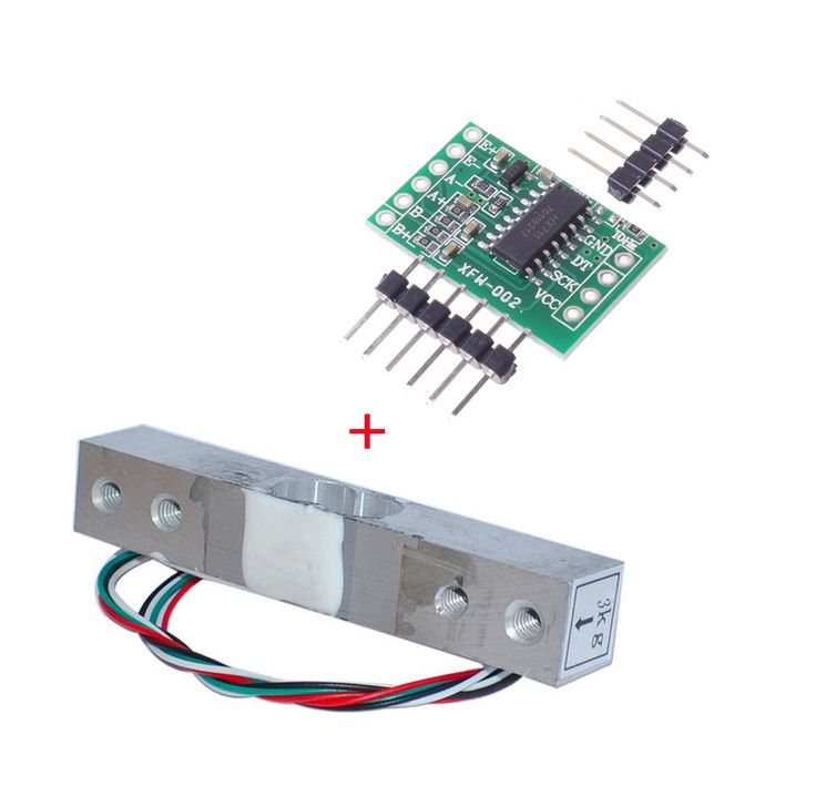 Digital Load Cell Weight Sensor 3KG Portable Electronic Kitchen Scale + HX711 Weighing Sensors Ad Module for Arduino