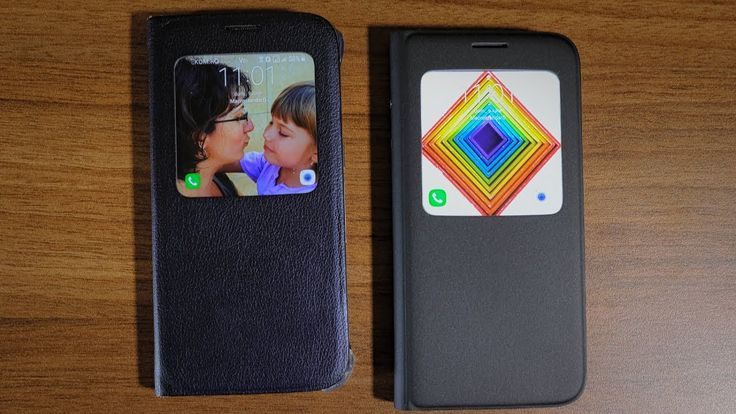 Setari afisare husa Samsung S-View Cover pentru Samsung Galaxy S7 si S6 ...