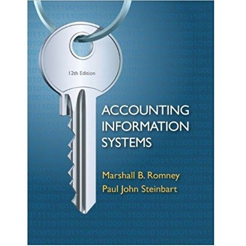 Solution Manual Accounting Information Systems 12th Romney