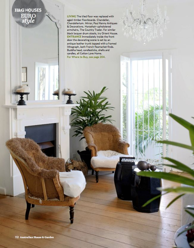 Beautiful interior from a feature I styled and wrote for Australian House & Garden magazine.