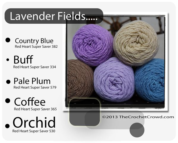 Trendy Colors by Daniel Zondervan. Using Red Heart Super Saver, Daniel mixed up the colors to create interesting themes to help you decide your next afghan or project colors.