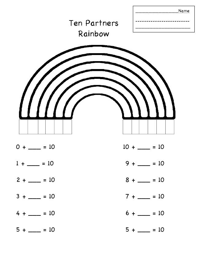 Make ten Rainbow Partners Math