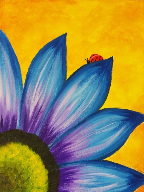 Easy Canvas Painting Ideas For Kids Oil Pastel Art Art Painting