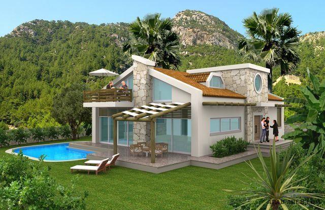 مخطط فيلا صغيرة المساحه اوربية التصميم طابقين House Styles Mansions Home