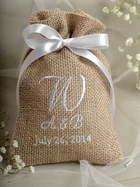 Hey i found this really awesome etsy listing at https Burlap bag decorating ideas