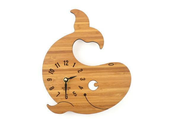 Hey, I found this really awesome Etsy listing at https://www.etsy.com/listing/169444618/wooden-clock-whale-bamboo-clock-gift-for