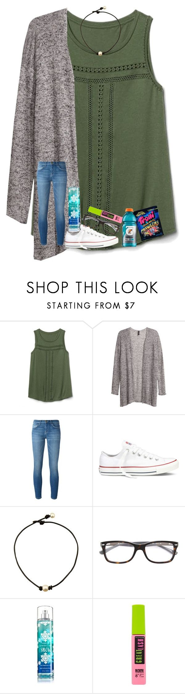 """""""baby you're a firework """" by shenry2016 ❤ liked on Polyvore featuring Gap, H&M, Current/Elliott, Converse, Ray-Ban and Maybelline"""