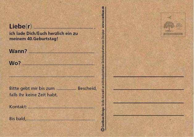 Lustige Einladungskarten Zum Vierzigsten Geburtstag! Verschicke Kreative  Einladungen Zum