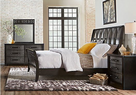 picture of Bedford Heights Gray 5 Pc King Sleigh Bedroom  from King Bedroom Sets Furniture