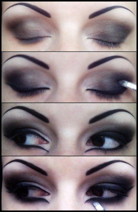 I adore this blog!  I could spend days practicing all of the different eye makeup ideas!