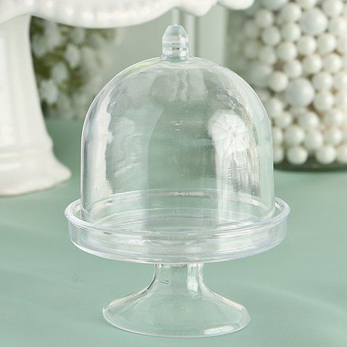 Display this adorable mini acrylic cake stand with lid at your upcoming party for a look guests will notice.