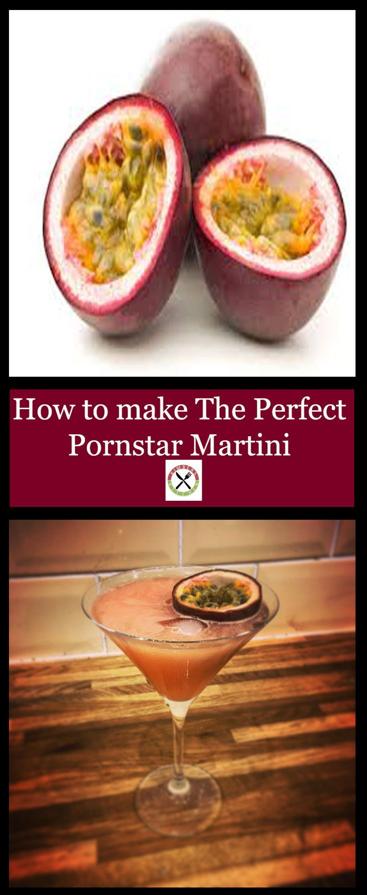 A recipe and guide to make the perfect Pornstar Martini using Vanilla syrup , lime, Vodka and fresh Passion fruit