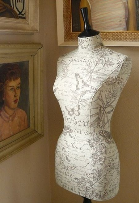 Make your own dress form for fitting. Again in Russian but self-explanatory photos.