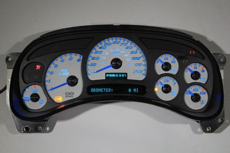 03 04 05 REBUILT SILVERADO SS WHITE GAUGE COMPLETE CLUSTER BLUE LED's *EXCHANGE* #OEMGMGMCACDelcoDelphi