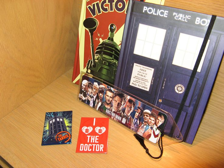 Dr. Who is in the house - journals, magnets, book marks and much more.  Available at Best of Friends Gift Shop in the lobby of Winnipeg's Millennium Library. 204-947-0110 mailto:info@friendswpl.ca