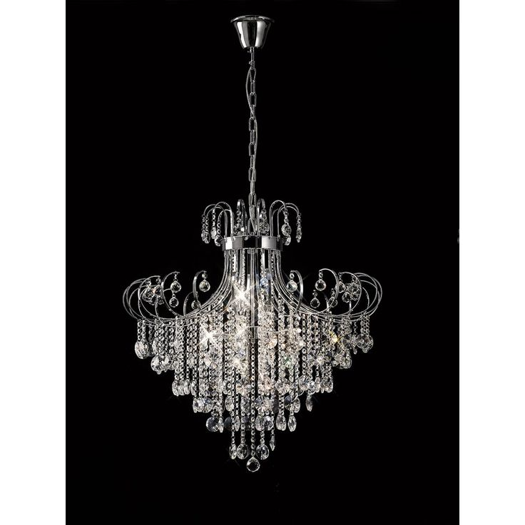 Diyas IL31058 Rosina Pendant Polished Chrome/crystal selected for hall at approx. £530